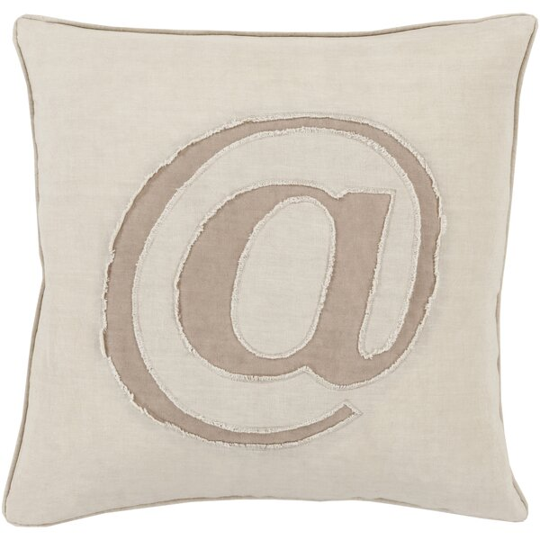 Octans Linen Text 100% Linen Throw Pillow Cover by Brayden Studio